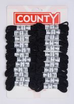 County Round Shoelaces Black - Card 24